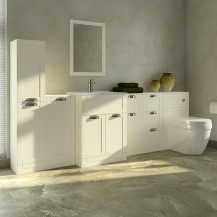 Nottingham Ivory 1000 Furniture Bathroom Suite with Aurora Back to Wall Toilet