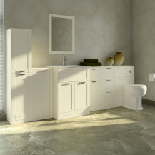 Nottingham Ivory 1000 Furniture Bathroom Suite with Park Royal™ Back to Wall Toilet
