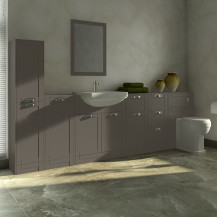 Nottingham Grey Semi Inset Furniture Bathroom Suite with Park Royal™ Toilet