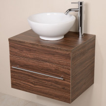Aspen™ 600 Wall Mounted Walnut Cabinet with Pacific Basin