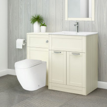 Nottingham 600 Ivory Combination Unit with Venus Back to wall Toilet and Seat
