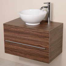 Aspen™ 750 Wall Mounted Walnut Cabinet with Pacific Basin