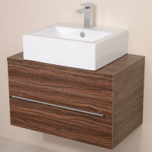 Aspen™ 750 Wall Mounted Walnut Cabinet with Rec Basin