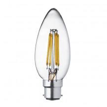 LED B22 Warm White Filament Bayonet Candle Light Bulb