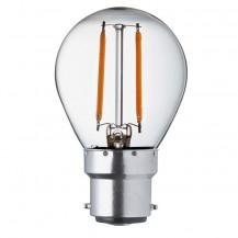 LED B22 Warm White Filament Bayonet Golf Ball Light Bulb