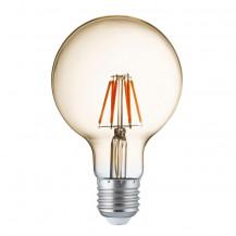 LED E27 Warm White Filament Amber Glass Globe Light Bulb