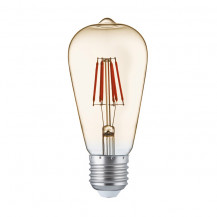 LED E27 Warm White Filament Amber Glass Light Bulb
