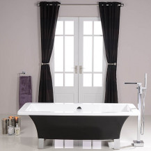 Athena Black 1600 x 750 Freestanding Bath