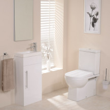 Modena Aspen White Cloakroom Furniture Pack