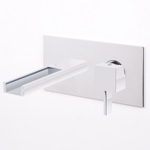 Vici Waterfall Wall Mounted Basin Mixer
