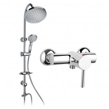 Clara Lever Shower Valve & Nico Riser Slide Shower Rail Kit