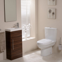 Micro Aspen Walnut Cloakroom Furniture Pack