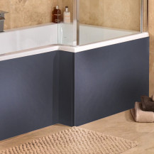 Windsor / Cuba / Aspen Grey 1700 MDF L Shaped Shower Bath Panel