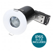 Fixed Fire Rated IP65 LED White Downlight - Bulb Included