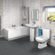 Tabor™ 1600 Shower Bath Revive Two Piece Suite with Taps & Waste