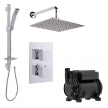 Quadro Dual Valve 1.6 Bar Single Impeller Power Shower