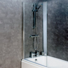 Straight Top 6mm Hinged Bath Screen