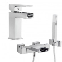 Adona Waterfall Thermostatic Bath Shower Mixer Tap Pack