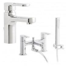 Vanda Basin and Bath Shower Mixer Tap Pack