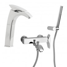 Nora Extended Basin and Bath Shower Mixer Tap Pack