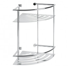 Cromo Two Shelf Corner Basket