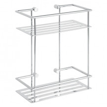 Cromo Two Shelf Rectangular Basket