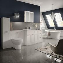 Nottingham White Furniture Torrelino Freestanding Complete Bathroom Suite