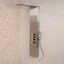 Aspire Steel Thermostatic Shower Tower Panel