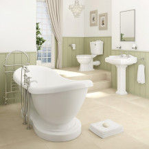 1760 Park Royal™ Traditional  Boat Freestanding Bath Complete Bathroom Suite