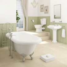 1760 Park Royal™  Traditional Double Ended Freestanding Bath  Complete Bathroom Suite