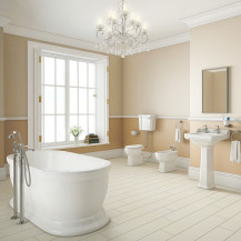 Park Royal Freestanding Bath with Low Level Traditional Toilet Complete Suite