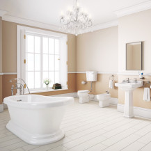 Park Royal Slipper Bath with Low Level Traditional Toilet Complete Suite