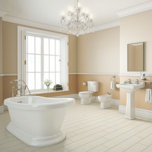 Traditional Park Royal Slipper Freestanding Bath with Close Coupled Toilet Complete Suite
