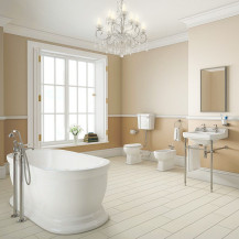 Park Royal Traditional Freestanding Bath with Low Level Toilet Complete Suite