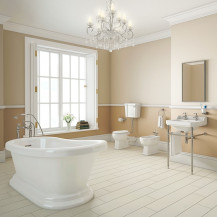 1700 Park Royal Slipper Bath with Low Level Toilet Complete Suite