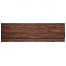 Walnut Finished 1600 Height Adjustable Panel with Plinth