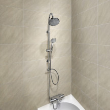 Montroc Premium Thermostatic Bath Shower Mixer with Celia Riser Slide Shower Rail Kit