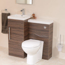 TD40 Luxury Walnut Combination Unit with Sofia Pan