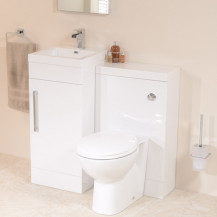 TD40 Luxury White Combination Unit with Sofia Pan
