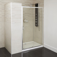 Aqualine™ 4mm 1200 x 760 Sliding Door Shower Enclosure with Shower Tray