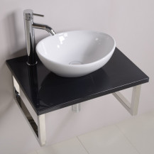 Countertop 60 Shelf and Shell Basin