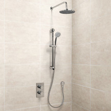 EcoS9 Concealed Dual Valve with Diverter, Head, Arm, Outlet and 5 Spray Ezio Kit