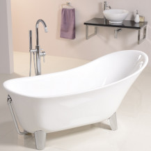 Solar Uno 1605 x 710 Contemporary Slipper Bath