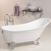 Solar Uno 1605 x 710 Traditional Slipper Bath