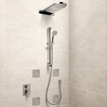 Tazia 5 Outlet Round Complete Shower Pack