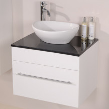 Aspen™ 60 Black Sparkle Shell Vanity Set