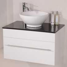 Aspen™ 75 Black Sparkle Pacific Vanity Set