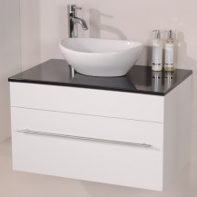 Aspen™ 75 Black Sparkle Shell Vanity Set