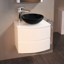 Voss™ 620 Wall Mounted Vanity Drawer Unit with Black Basin & Extended Mixer