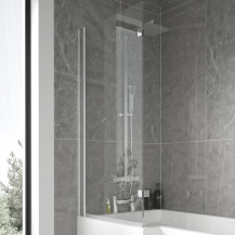 L-Shaped Hinged Bath Shower Screen